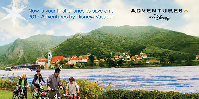 Check out these last chance offers on select Adventures By Disney® departures