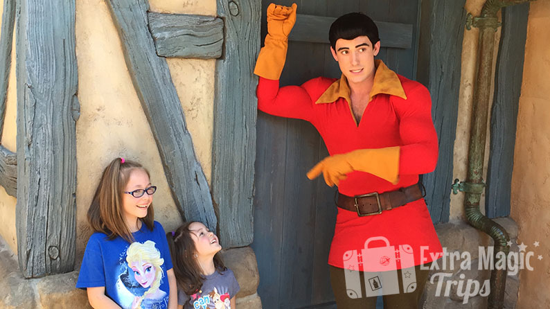 Meeting Gaston at Magic Kingdom® Park
